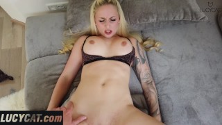 Sexy blonde babe fucked